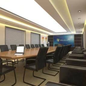 现代会议室3D模型【ID:932954089】