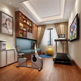 现代室内健身房3D模型【ID:532767922】