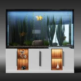 现代鱼缸3D模型【ID:332534604】
