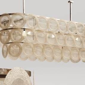 现代金属水晶吊灯3D模型【ID:734825835】
