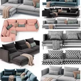 现代沙发组合3D模型【ID:635771688】
