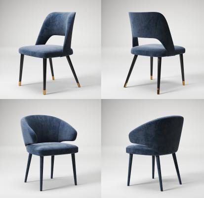 现代轻奢单椅3D模型【ID:745532127】