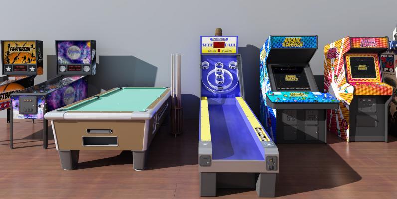 现代游戏设备3D模型【ID:435746480】