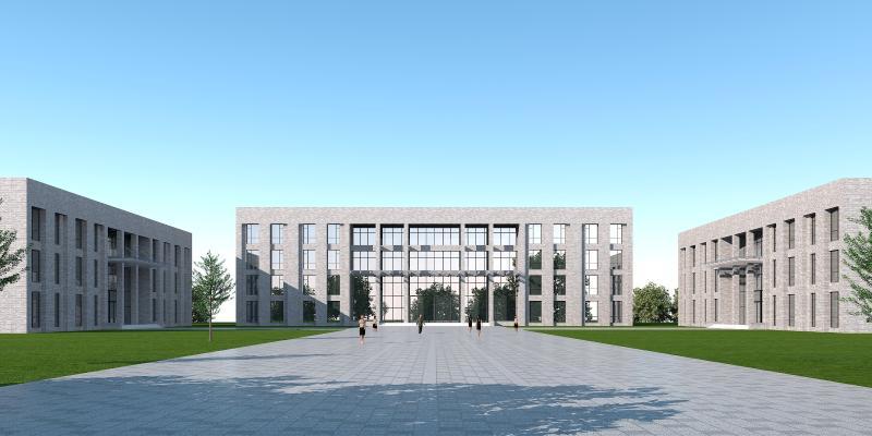 现代办公楼3D模型【ID:145676959】