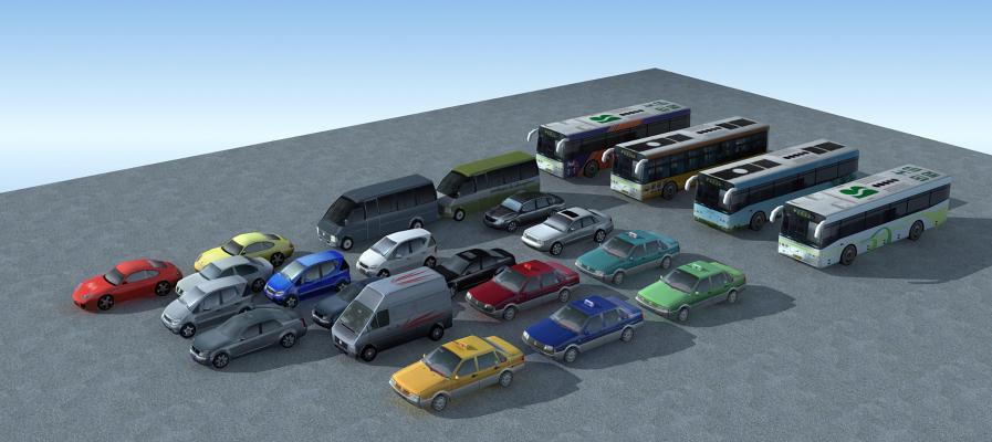 現代汽車組合3D模型【ID:441987674】
