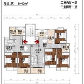 新中式叠墅别墅3D模型【ID:135468319】