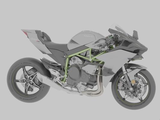 現代摩托車3D模型【ID:447258744】