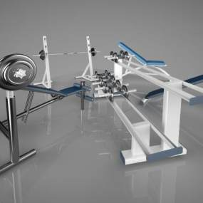 现代体育器材3D模型【ID:334059817】