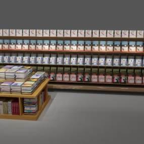 现代书柜3D模型【ID:131770518】