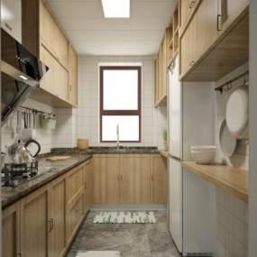 北歐小清新廚房3D模型【ID:543793333】