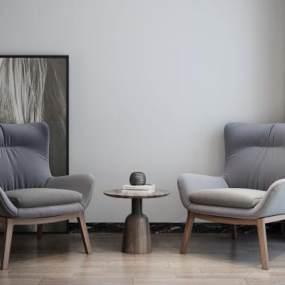现代休闲椅3D模型【ID:750389026】