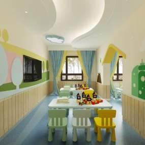 現代幼兒園教室3D模型【ID:949003696】