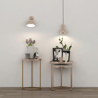 北欧床头柜台灯吊灯摆件组合3D模型【ID:143779825】