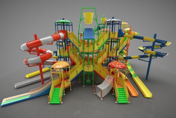 现代风格游乐设施3D模型【ID:448859142】