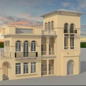 现代别墅3D模型【ID:134510353】
