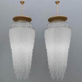 现代金属吊灯3D模型【ID:734760839】