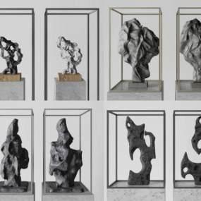 新中式雕塑饰品3D模型【ID:235944593】