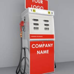 现代加油站3D模型【ID:434755561】