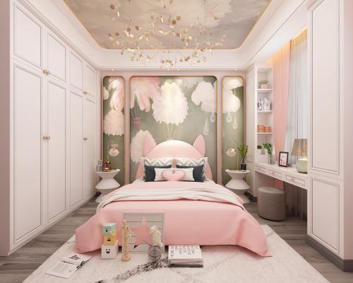 现代卧室3D模型【ID:550971205】