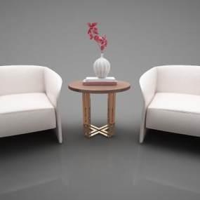 新中式家具组合3D模型【ID:643526741】