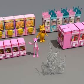 现代夹娃娃机游戏机3D模型【ID:831995616】