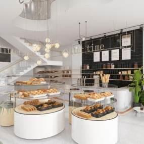 现代面包店甜品店 3D模型【ID:641909493】