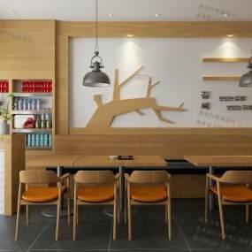 現代韓餐館3D模型【ID:647164298】