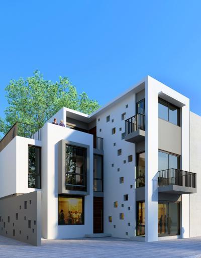 現代公寓3D模型【ID:141635747】