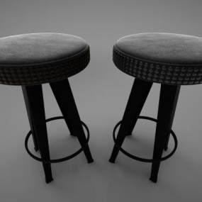 现代风格沙发凳3D模型【ID:649429417】
