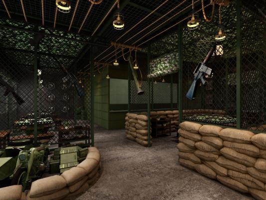工业风主题餐厅3D模型【ID:635276503】