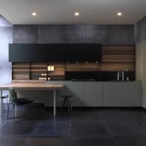 现代风格厨房3D模型【ID:536232315】