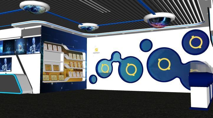 現代創意科技展展廳展覽SU模型【ID:245493929】
