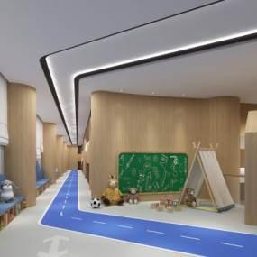 现代幼儿园3D模型【ID:945631688】