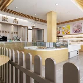 现代蛋糕店3D模型【ID:147054221】
