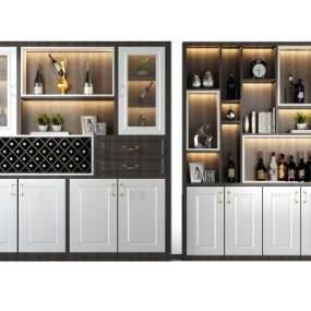 现代酒柜 3D模型【ID:641555221】