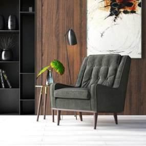 现代单人沙发3D模型【ID:733309016】