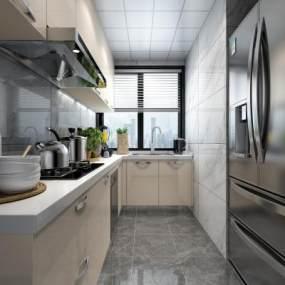 现代厨房3D模型【ID:531521343】