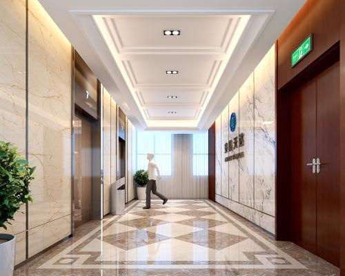 现代电梯间3D模型【ID:934783544】