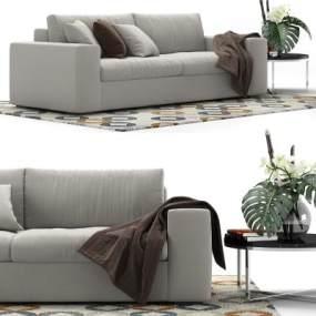 现代布制沙发国外3D模型【ID:632030827】