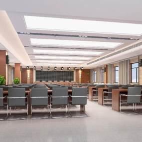 现代公司大会议室3D模型【ID:932934172】