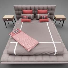 現代風格床具3D模型【ID:848340736】