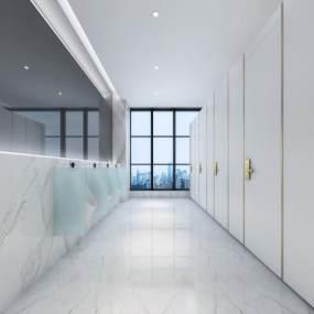 現代酒店衛生間3D模型【ID:434500146】