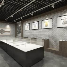新中式博物馆展厅3D模型【ID:944054770】