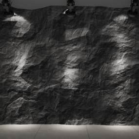 现代风格石材背景墙3D模型【ID:253767734】