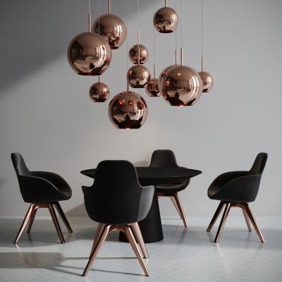 英国TomDixon现代桌椅吊燈组合国外3D模型【ID:831930800】