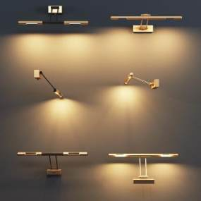 现代金属壁灯3D模型【ID:753352964】