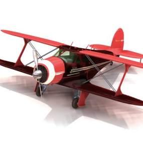 工业风红色飞机3D模型【ID:432495951】