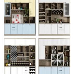 现代酒柜3D模型【ID:642499262】