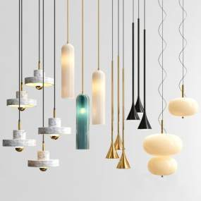 现代吊灯组合3D模型【ID:753317859】