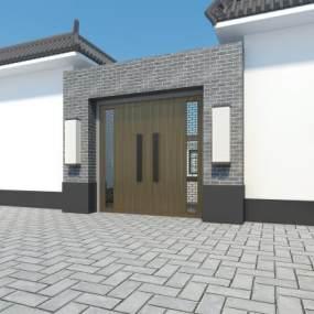 新中式建筑3D模型【ID:132747997】
